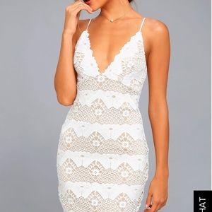 Lulus Midi Lace Dress